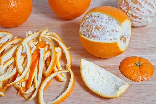get rid of yellow teeth with orange peel